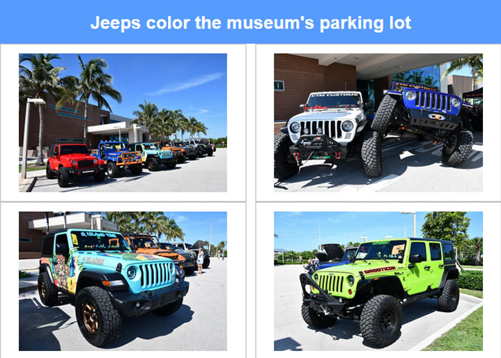 Colorful Collection of Jeeps
